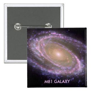 M81 GALAXY 2 INCH SQUARE BUTTON