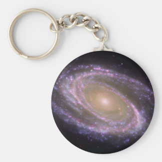 M81 Galaxy is Pretty in Pink Keychain