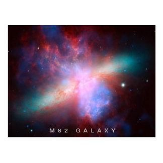 M82 Galaxy Postcard