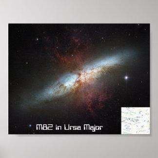 M82 in Ursa Major Poster