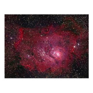 M8 Lagoon Nebula NGC 6523 Postcard