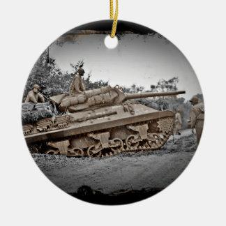 M-10 Tank Destroyer WWII Ceramic Ornament