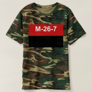 M-26-7 Flag -  Bandera del Movimiento 26 de Julio. T-shirt