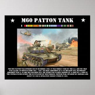 M-60 Patton Tank Poster
