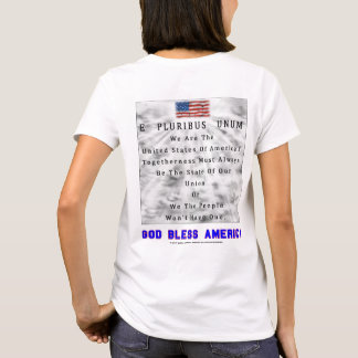 M. A. C. & B. - GOD BLESS AMERICA in Blue Letters T-Shirt