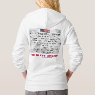 M. A. C. & B. - GOD BLESS AMERICA in Red Letters Hoodie