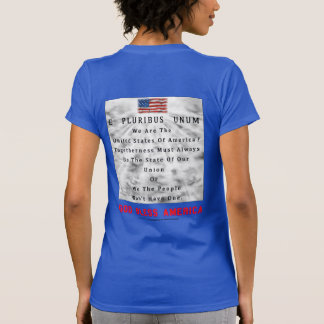 M. A. C. & B. - GOD BLESS AMERICA in Red Letters T-Shirt