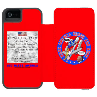 M. A. C. & B – GOD BLESS AMERICA INCIPIO WATSON™ iPhone 5 WALLET CASE
