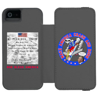 M. A. C. & B - GOD BLESS AMERICA INCIPIO WATSON™ iPhone 5 WALLET CASE