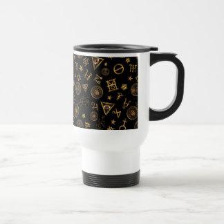 M.A.C.U.S.A. Magic Symbols And Crests Pattern Travel Mug