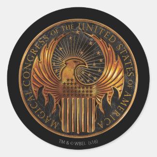 M.A.C.U.S.A. Medallion Classic Round Sticker