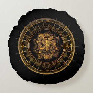 M.A.C.U.S.A. Multi-Faced Dial Round Pillow