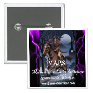 M.A.P.S Mobile Action Patriot Strikeforce 2 Inch Square Button