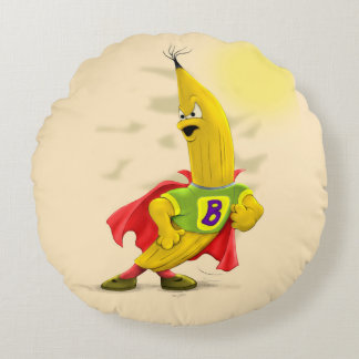 M.BANANA Brushed Polyester Round Pillow