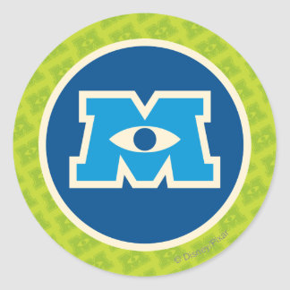 M Circle Logo Round Sticker