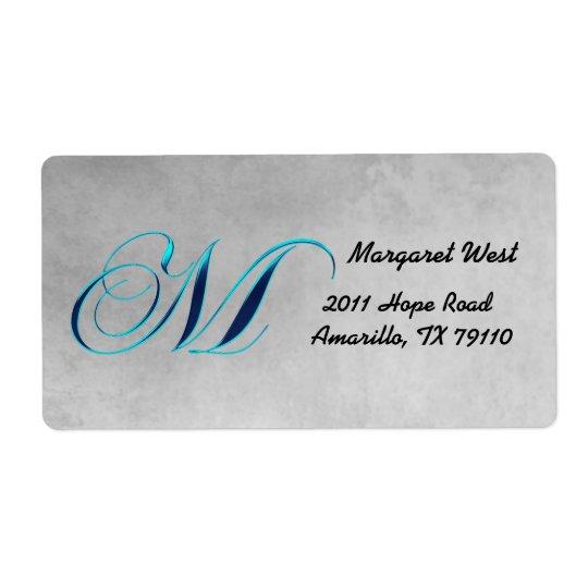M Elegant Monogram Address Label