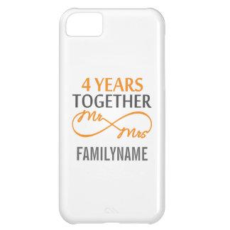 M et Mme faits sur commande 4ème anniversaire Étuis iPhone 5C