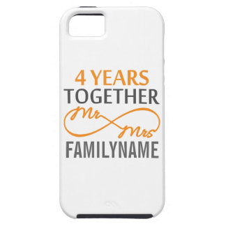 M et Mme faits sur commande 4ème anniversaire iPhone 5 Case