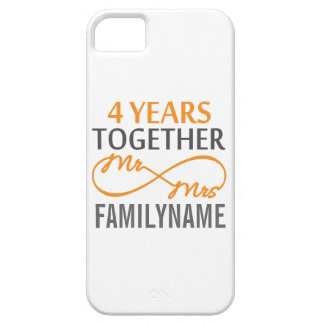 M et Mme faits sur commande 4ème anniversaire Étuis iPhone 5