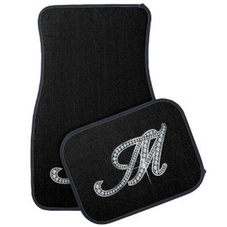 "M Faux-""Diamond Bling"" Car Mat"