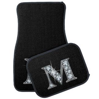 "M Faux-""Diamond"" Monogram Car Mat"