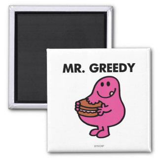 M. Greedy Eating Cake Magnet Carré