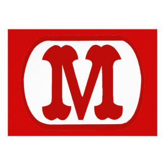 M In Oval Icon Mario Personalized Announcements