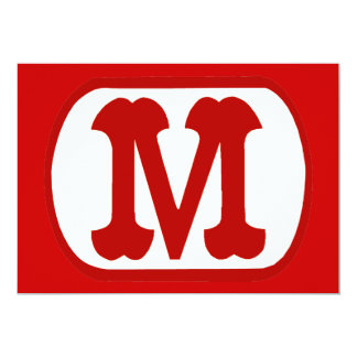 M In Oval Icon  (Mario) Personalized Announcements