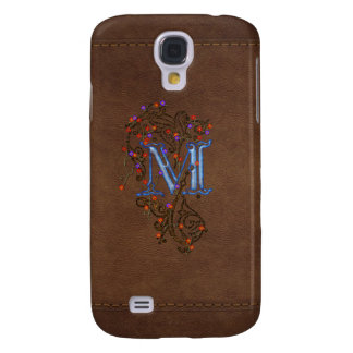M Initial Leather-look Customised Phone Case