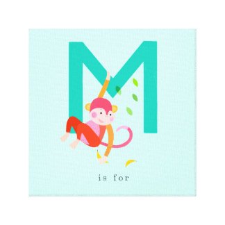 M is for... canvas print
