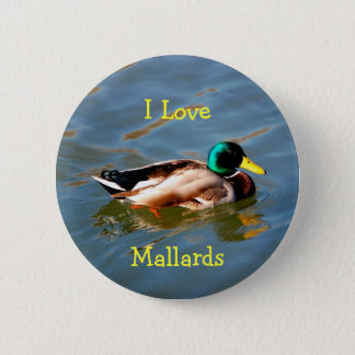 M is for Mallard - button