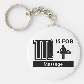 M Is For Massage Key Chains