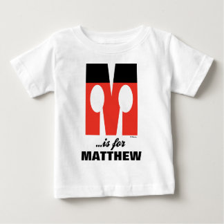 M is for Mickey | Add Your Name 2 Baby T-Shirt