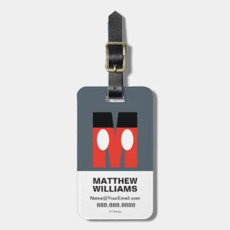 M is for Mickey | Add Your Name Luggage Tag