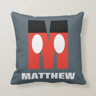 M is for Mickey | Add Your Name Throw Pillow