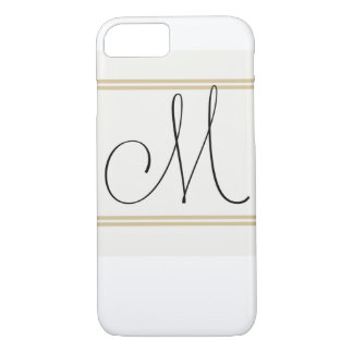 M is for Mighty Fine, Iphone Monogram iPhone 7 Case