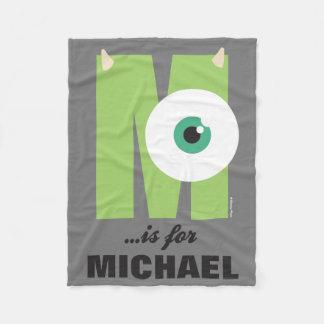 M is for Mike | Add Your Name Fleece Blanket