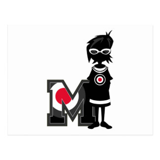 M is for Mod Postcard