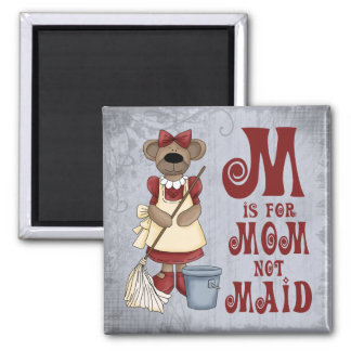M is for Mom Square Magnet