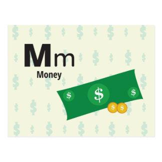 "M is for Money - Alphabet Flash Card - 5.5 x 4.25"""