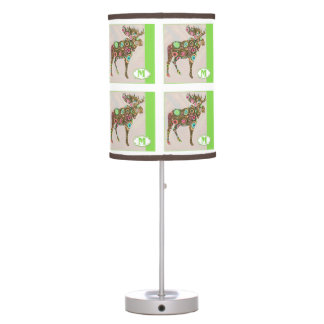 M is for MOOSE Alphabet Block Table Lamps