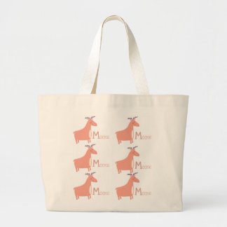 M is for Moose Large Tote Bag