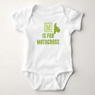 M Is For Motocross Baby Bodysuit