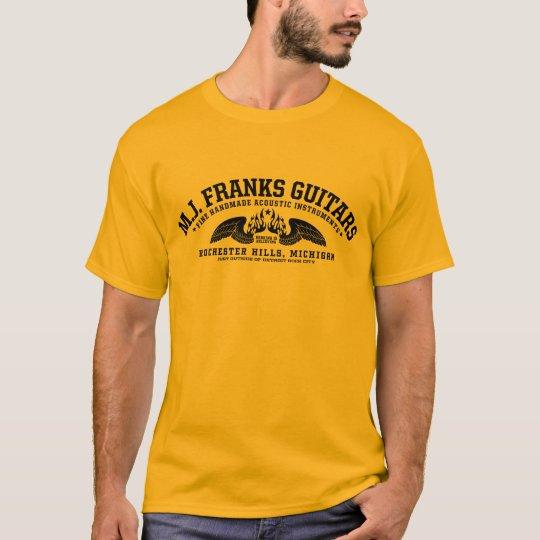 M.J. Franks Guitars Wings Gold T-Shirt