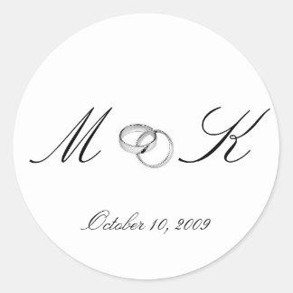 M & K, October 10, 2009 Classic Round Sticker