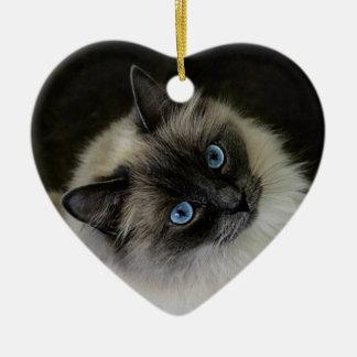 M`Lady Ceramic Heart Ornament