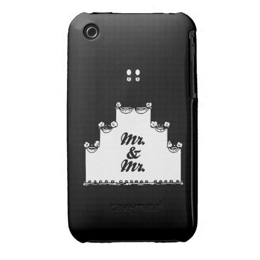 M. LESBIEN DE GÂTEAU DE MARIAGE ET M. - .PNG COQUES iPhone 3 Case-Mate