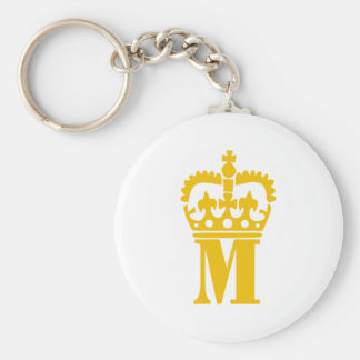 M - Letter - Name Keychain