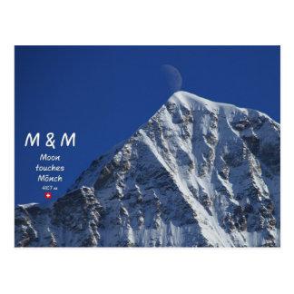M & M - Moon touches monk Postcard