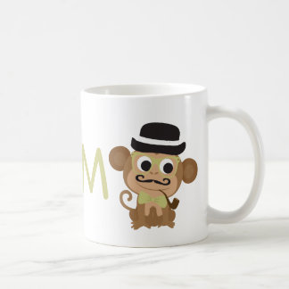 M- Magnificent Mustached Monkey Coffee Mug
